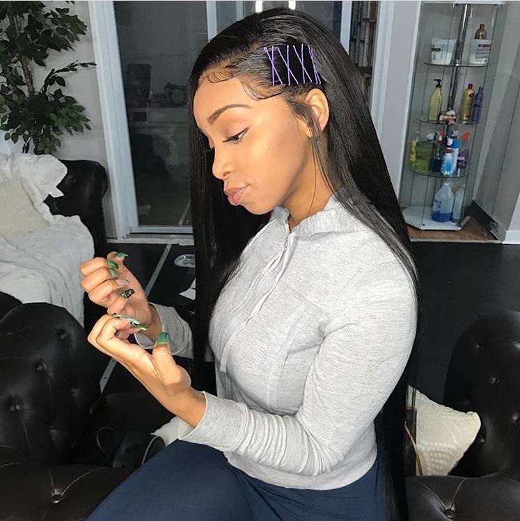 Pinterest Baddiebecky21 Bex Wig Hairstyles Human Hair Wefts Straight Hairstyles
