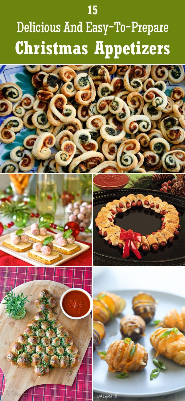 15 delicious and easy to prepare christmas appetizers