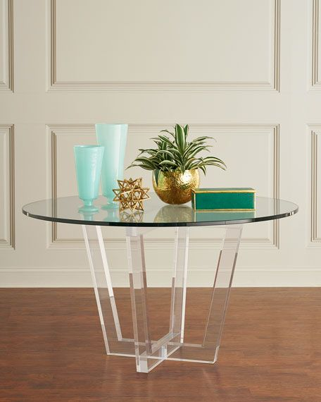 Interlude Home Lovey Acrylic Round Dining Table | Round ...