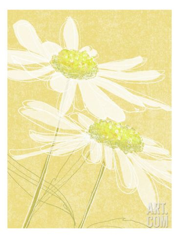 Daisies in Gold Wall Decal at Art.com