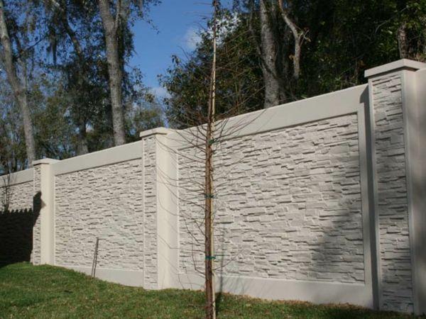 Beckers Betonzaun betonzaun eine elegante innenhofgestaltung erreichen
