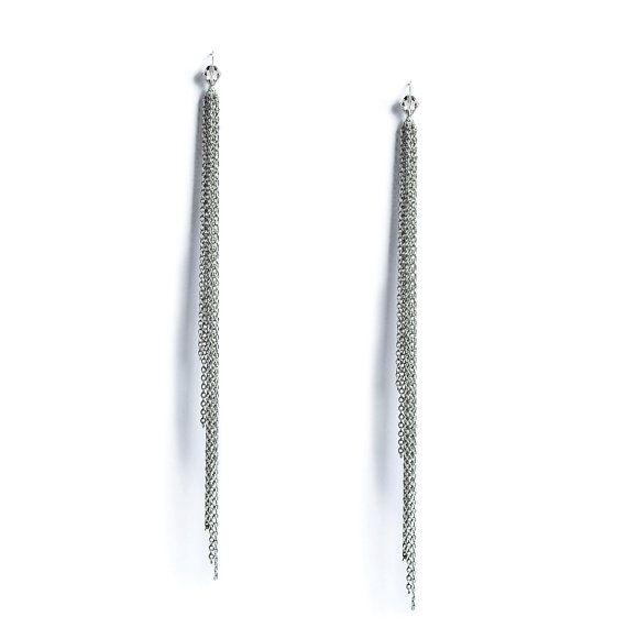 Romantic Minimalistic Long Chains Earrings. by VQSTUDIO on Etsy, $38.00