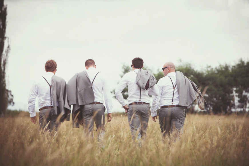 Country Wedding with the boys.  Captured by Melbourne Wedding Photographer STUDIOMAX