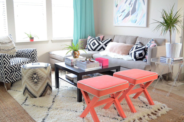 La Fiorentina Chair, West Elm Jackson Sofa, Coral X
