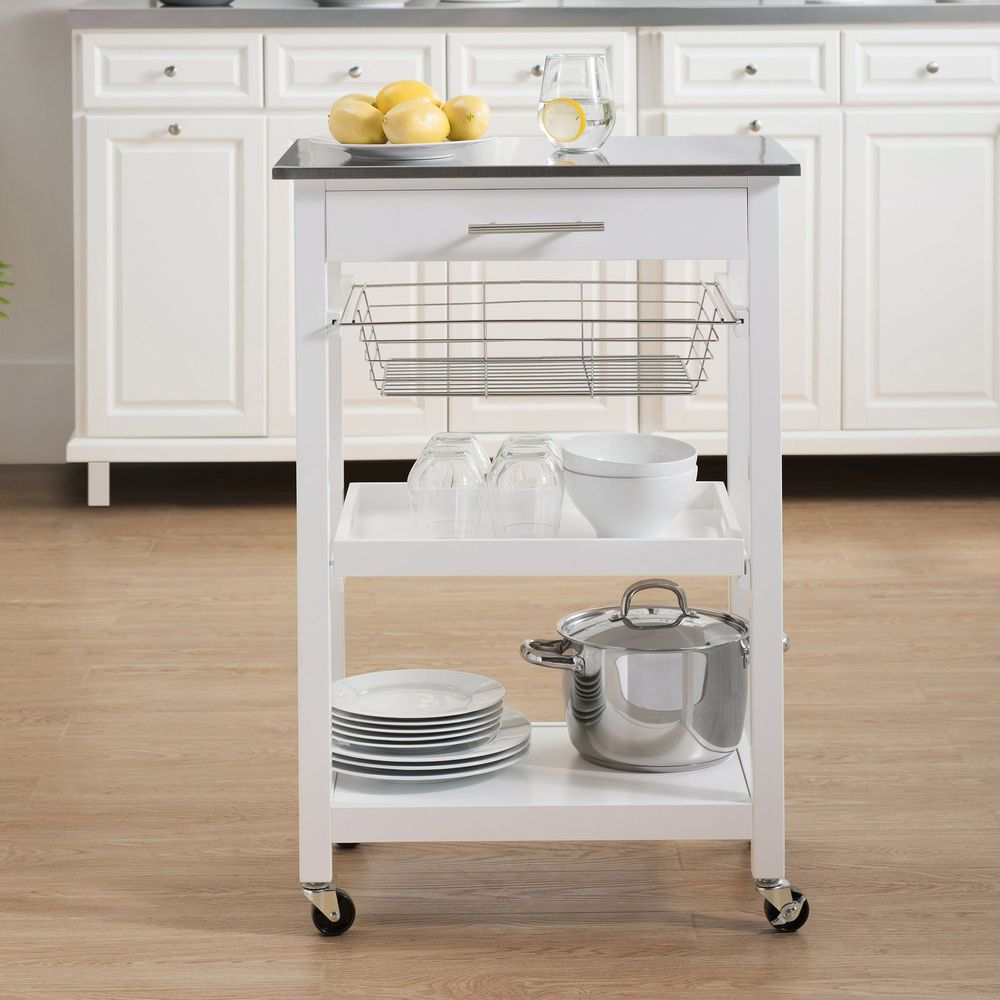 small kitchen island cart with wheels prep counter storage shelf basket portable highlandd on kitchen island ideas kitchen bar carts id=76772