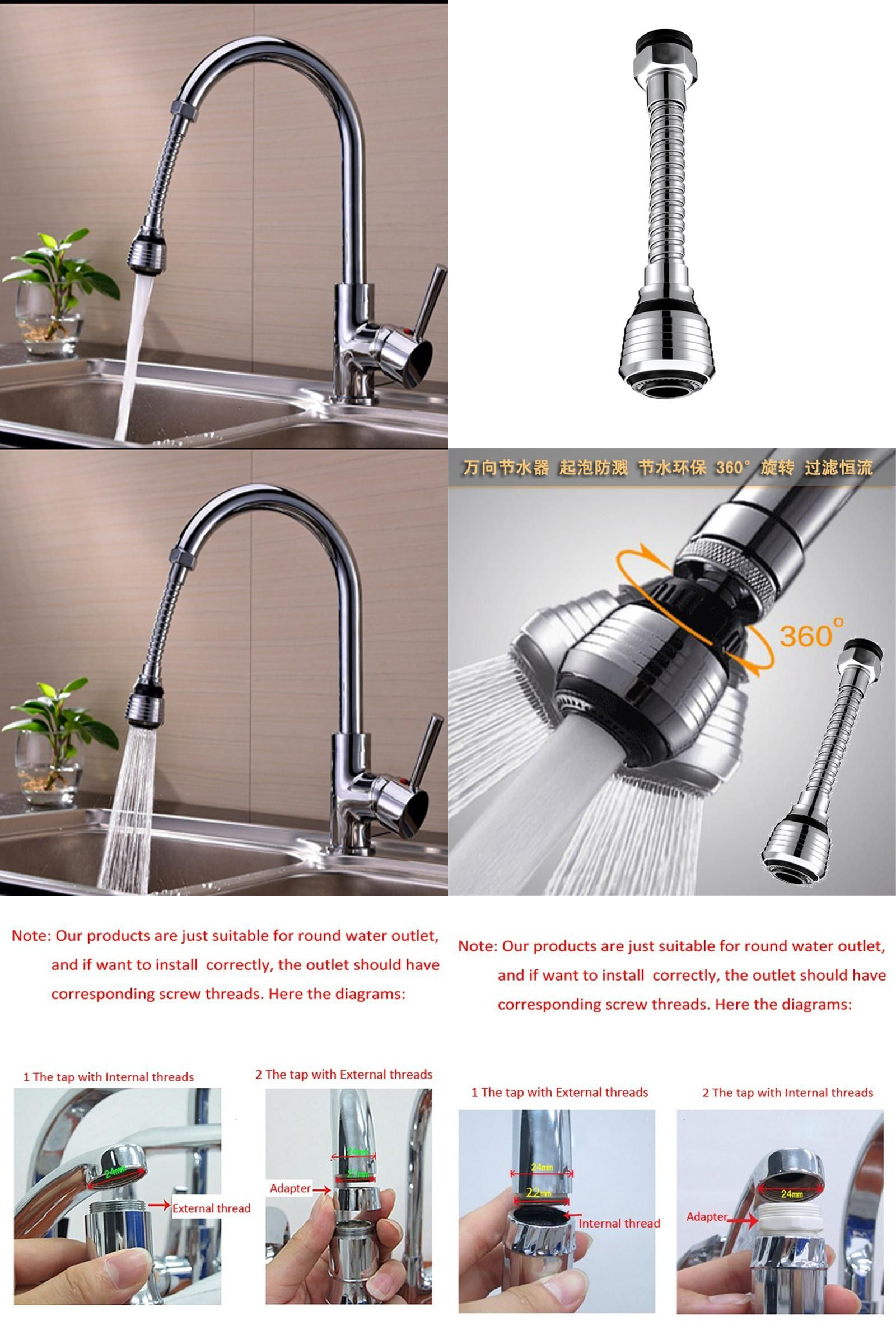 Visit to Buy] Faucet Aerator Sprayer Water Saving Device For Home ...