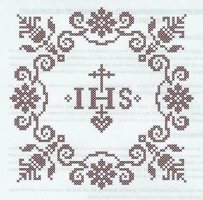 Weihkorbdecken Zahlvorlage Weihkorbdecken Themen Sticken Kreuzstich Kreuzstichschrift Kreuzstich