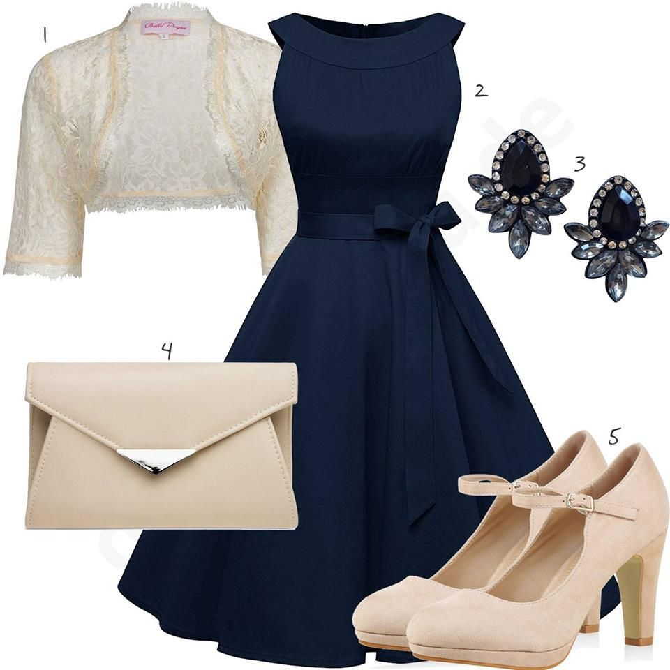 Frühlings-Outfit mit Kleid, Clutch und Pumps - outfits20you.de in