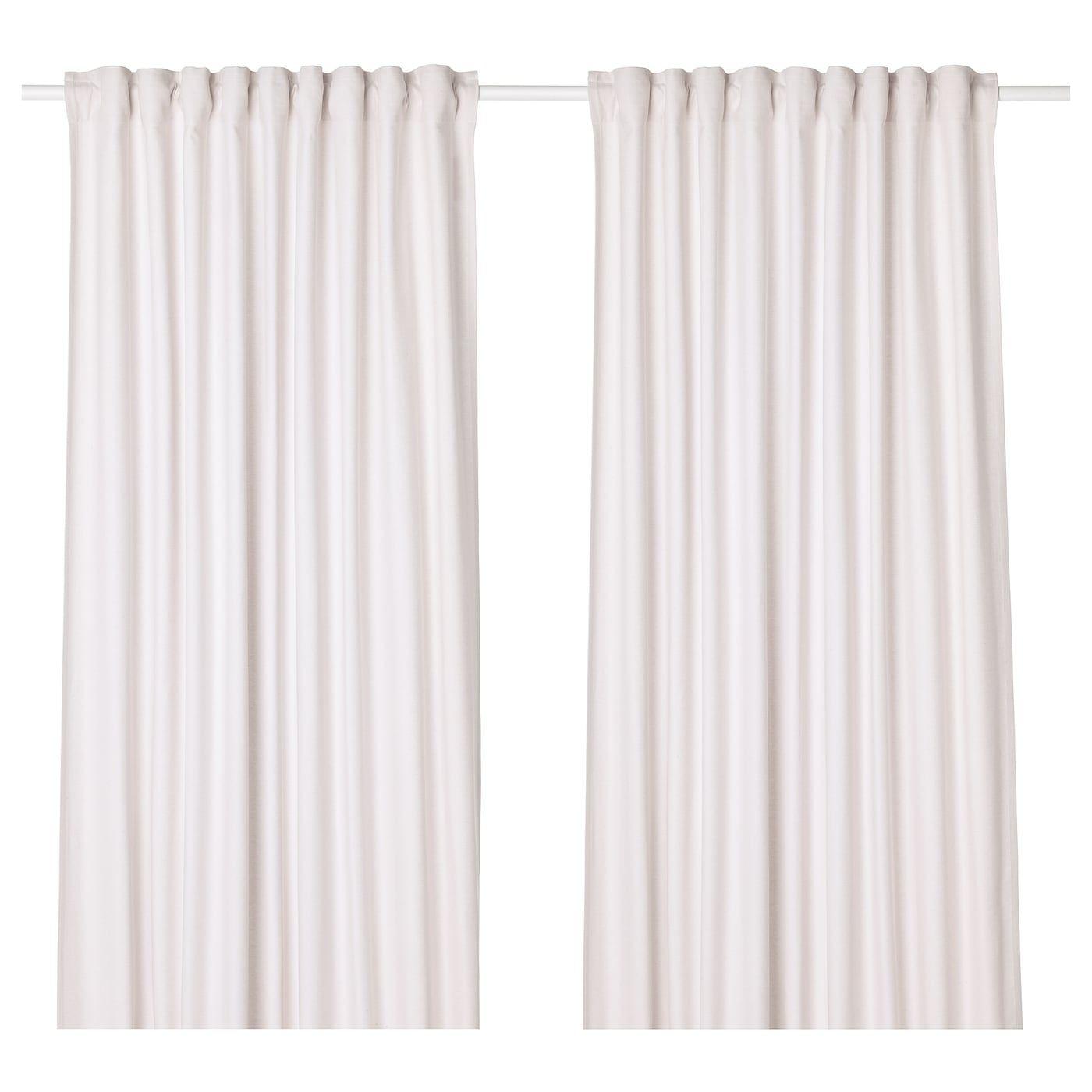 Tibast Curtains 1 Pair Beige 57x98 Ikea Vorhange Gardinenring Blickdichte Gardinen