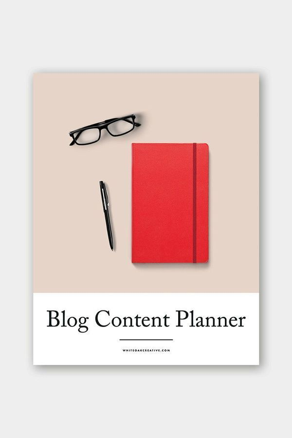 Blog Content Planner workbook for creative entrepreneurs and