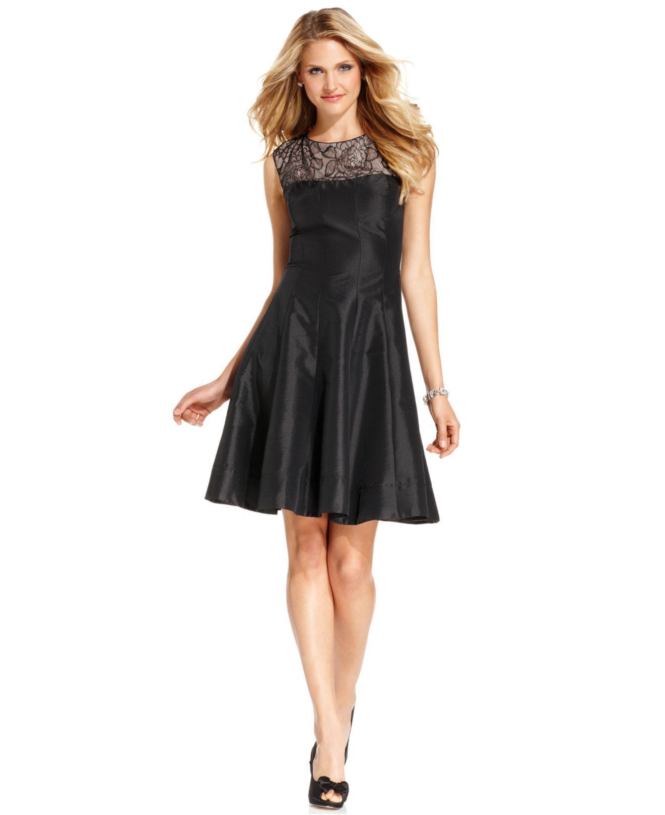 London Times Dress, Sleeveless Lace ALine Womens