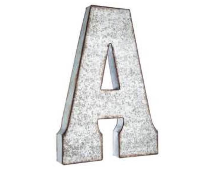Extra Large Metal Letters Pick Color Word Play Galvanized Metal