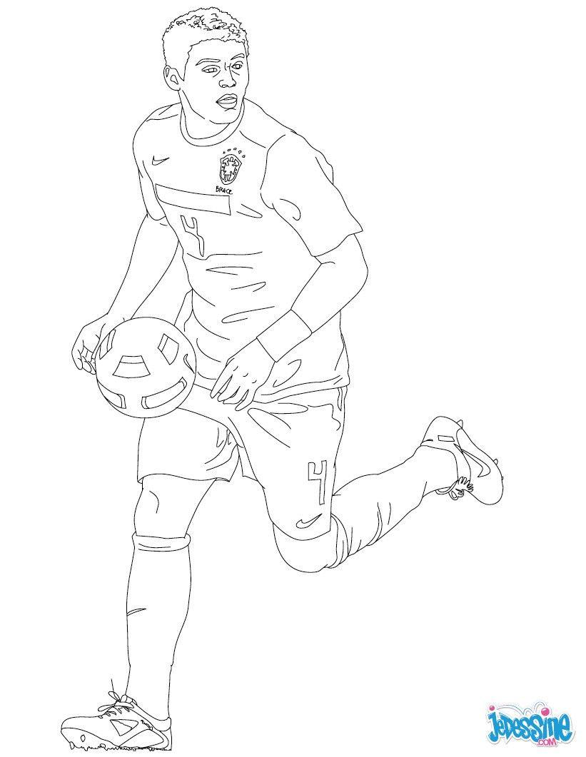 coloriage du joueur de foot tiago silva   u00c0 imprimer gratuitement ou colorier en ligne sur
