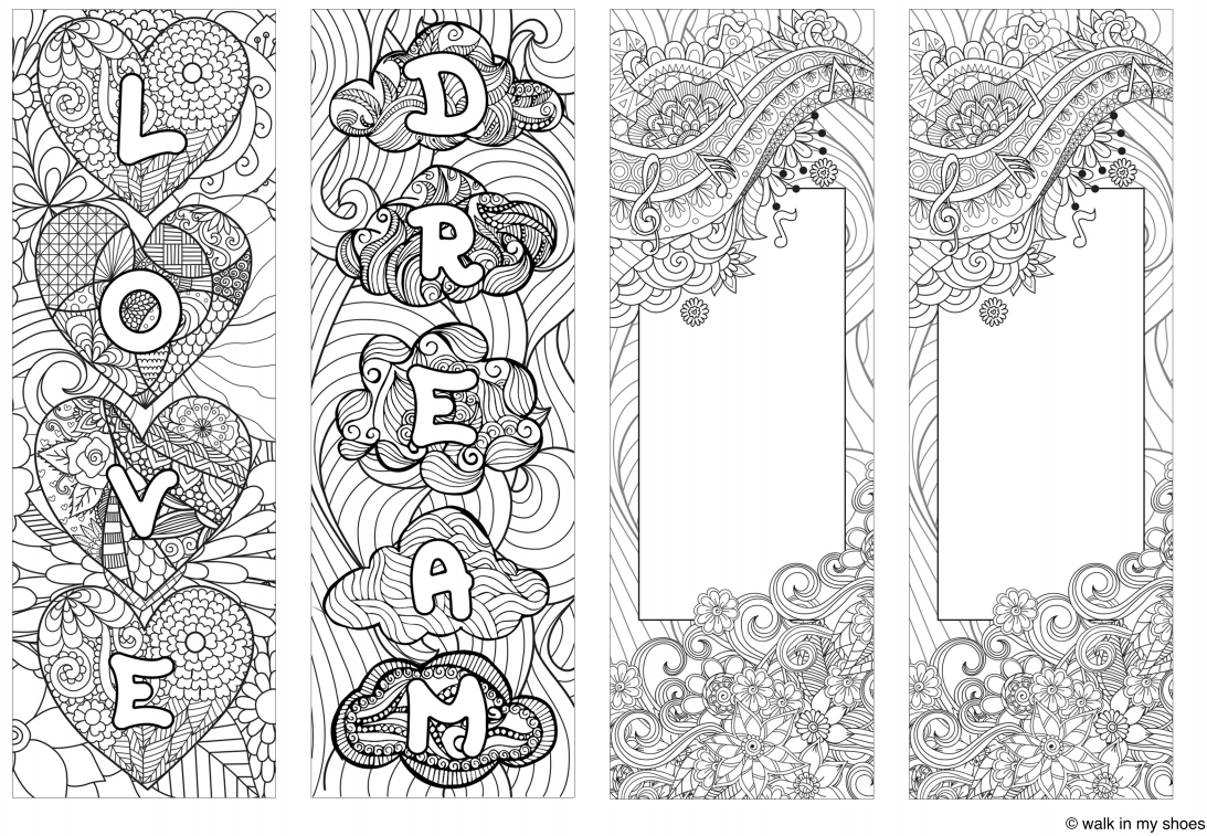 Pin By Deb On Book Marks Mindfulness Colouring Coloring Bookmarks Art Room