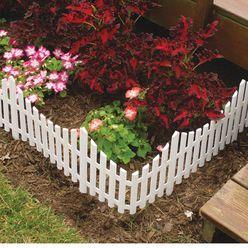 White Plastic Picket Fence 24