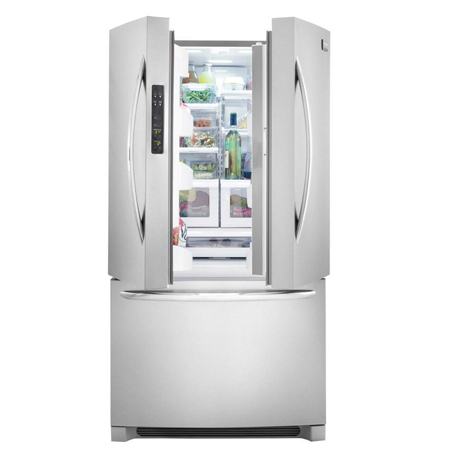 Frigidaire Gallery 22 6 Cu Ft French Door Counter Depth Refrigerator With Single Ice Maker