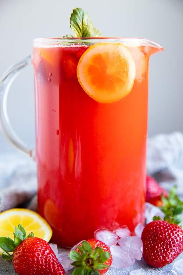 Homemade Strawberry Lemonade | Savory Nothings