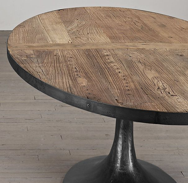 Aero Reclaimed Elm Oval Dining Table Spitia