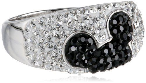 cb4360a97 Disney Hidden Mickey Black and White Crystal Ring, http://www.amazon