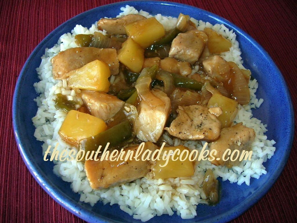 SWEET AND SOUR PORK SKILLET-Easy to prepare and so good.
