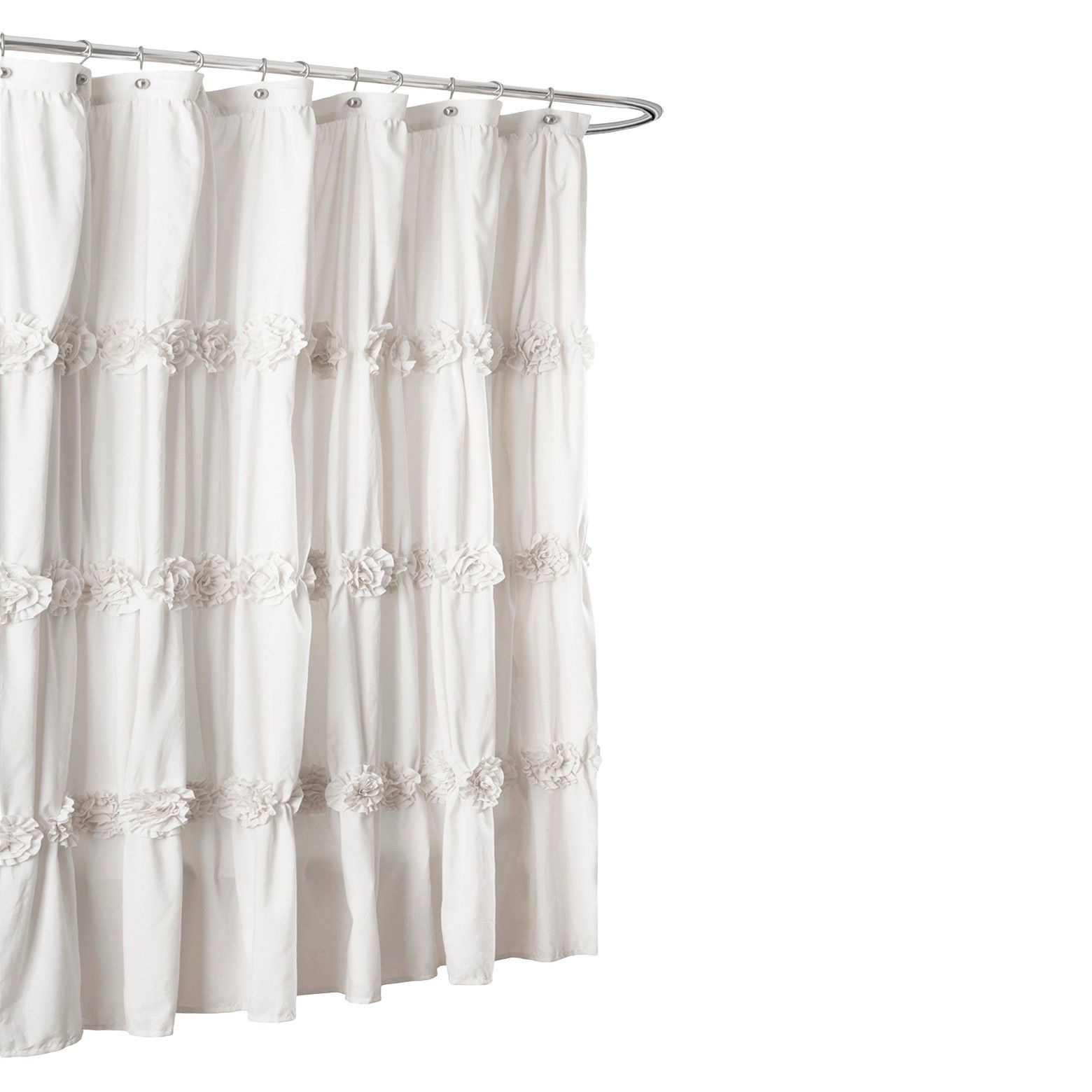 Bring Graceful Style To Your Bathroom With The Lush Du0026eacute;cor Darla  Horizontal Texture Shower Curtain. Made Of Polyester, This Fabric Shower  Curtain Has ...