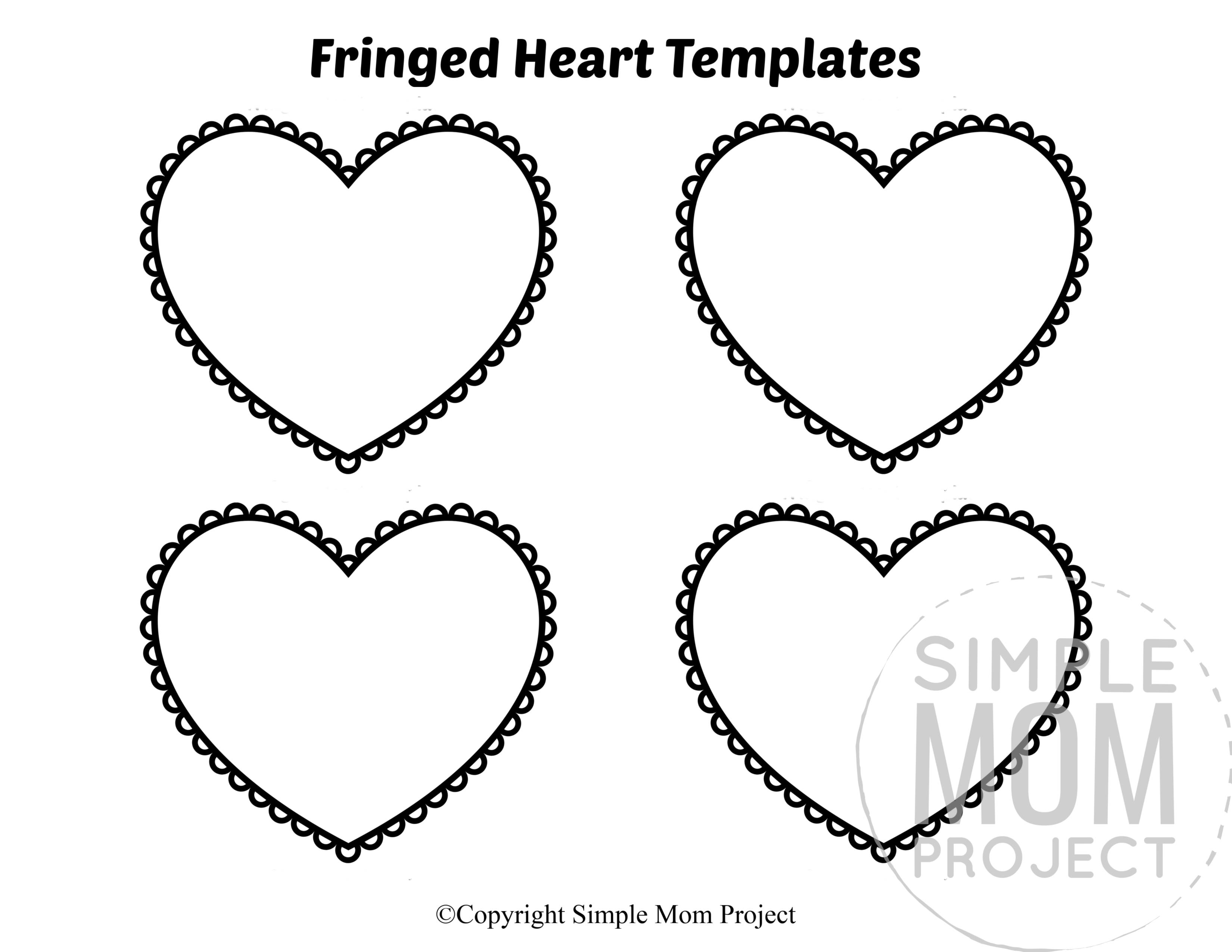 Free Printable Small Heart Shape Templates