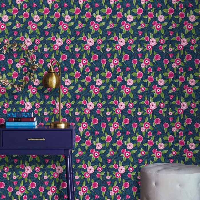 Marker Floral Coordinate Peel Stick Wallpaper Opalhouse Accent Walls In Living Room Peel And Stick Wallpaper Wallpaper
