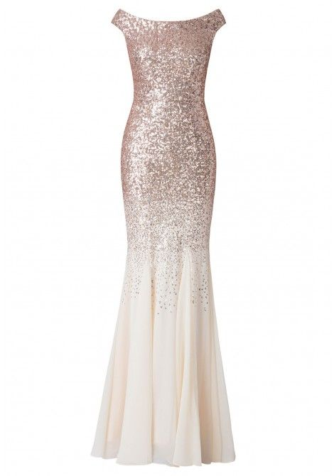 9187f5c8 Stephanie Pratt Sequin and Chiffon Maxi Dress in Champagne in 2019 ...
