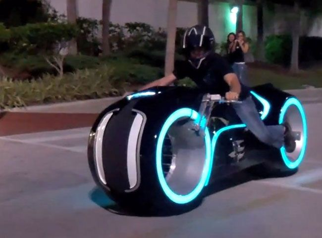 Electric Tron Lightcycle In Action Real Life Motorcycle