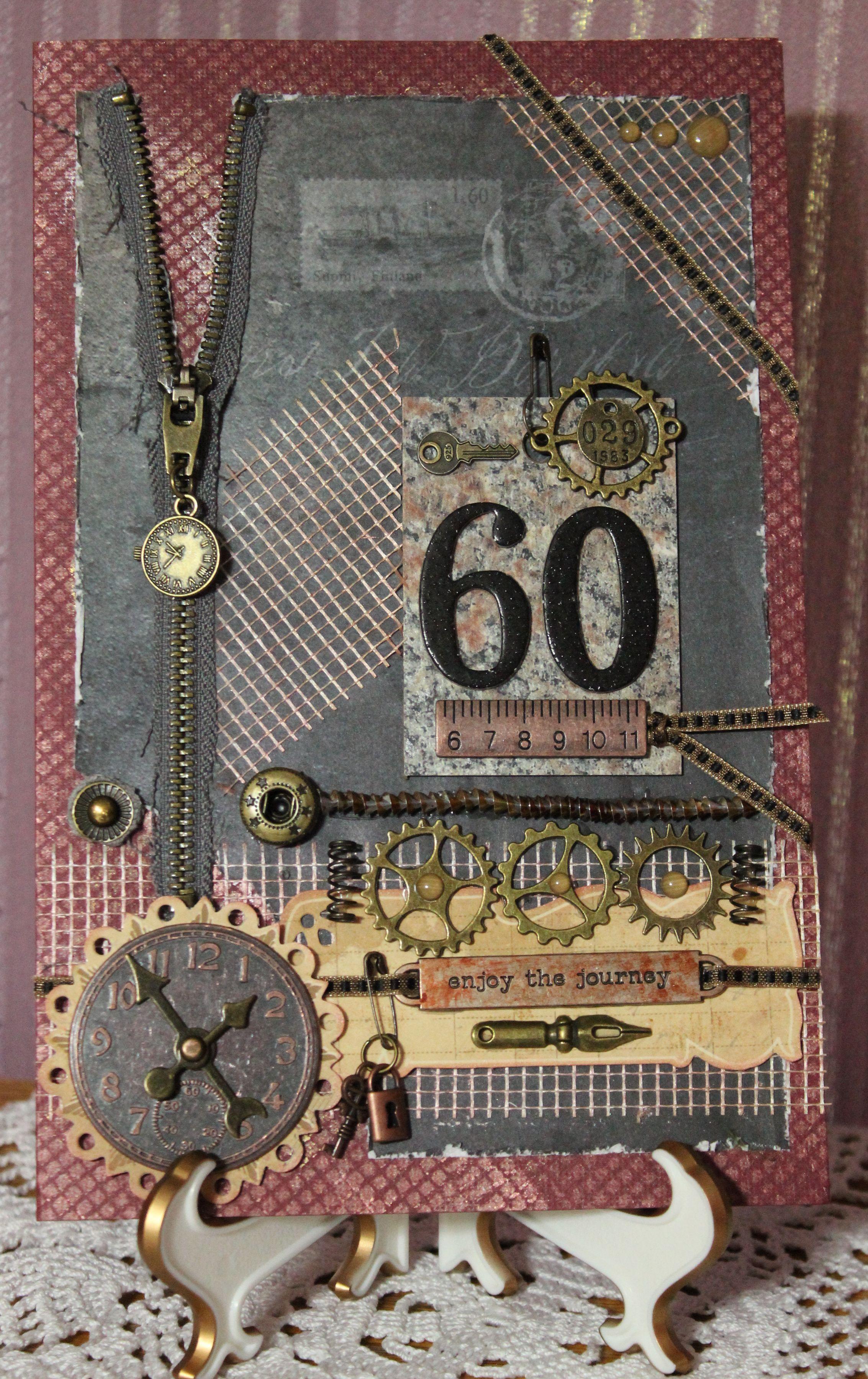 Steampunk Birthday Card By Elizabeth Pipkin Scrapbook