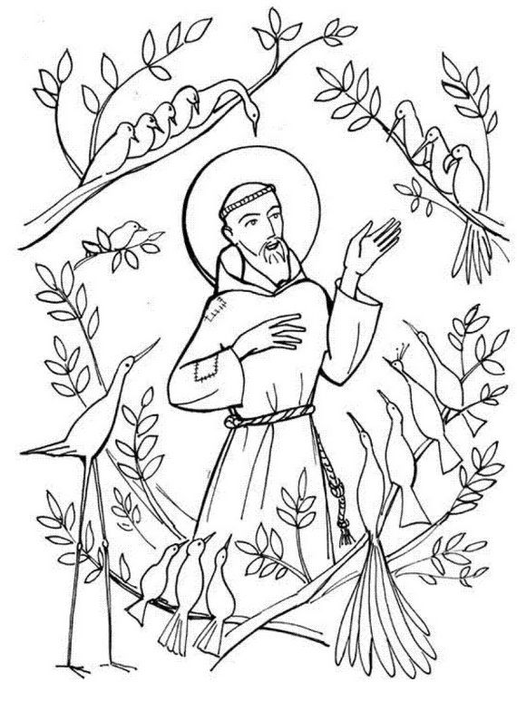 St. Francis of Assisi Coloring pages for Catholic Kids | Catholic ...