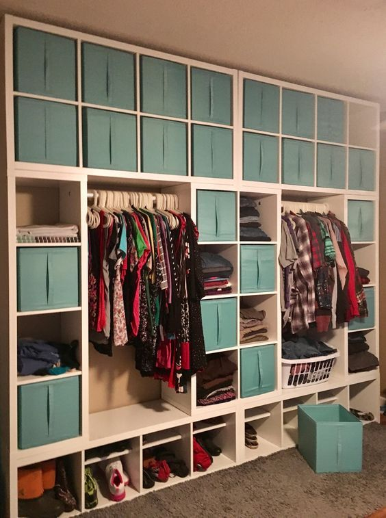 kallax wardrobe wall kleiderschrank pinterest. Black Bedroom Furniture Sets. Home Design Ideas