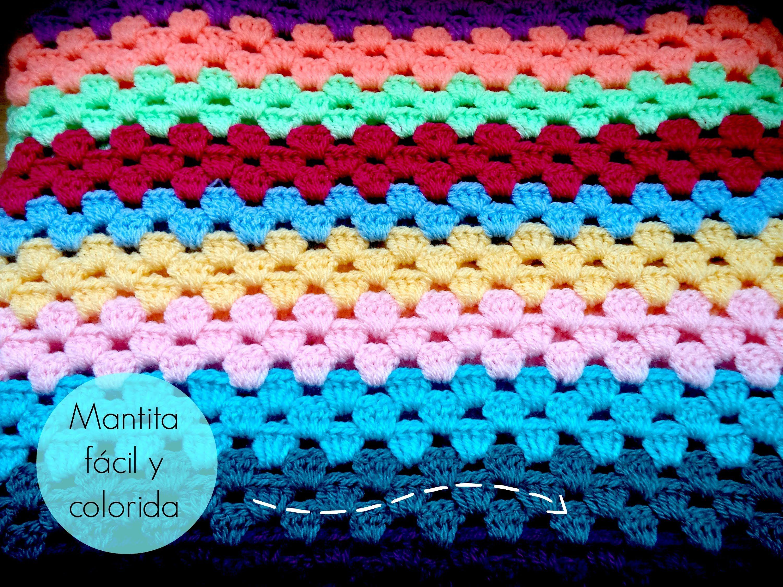 Manta f cil de ganchillo easy crochet blanket tutorial - Aplicaciones de ganchillo para colchas ...