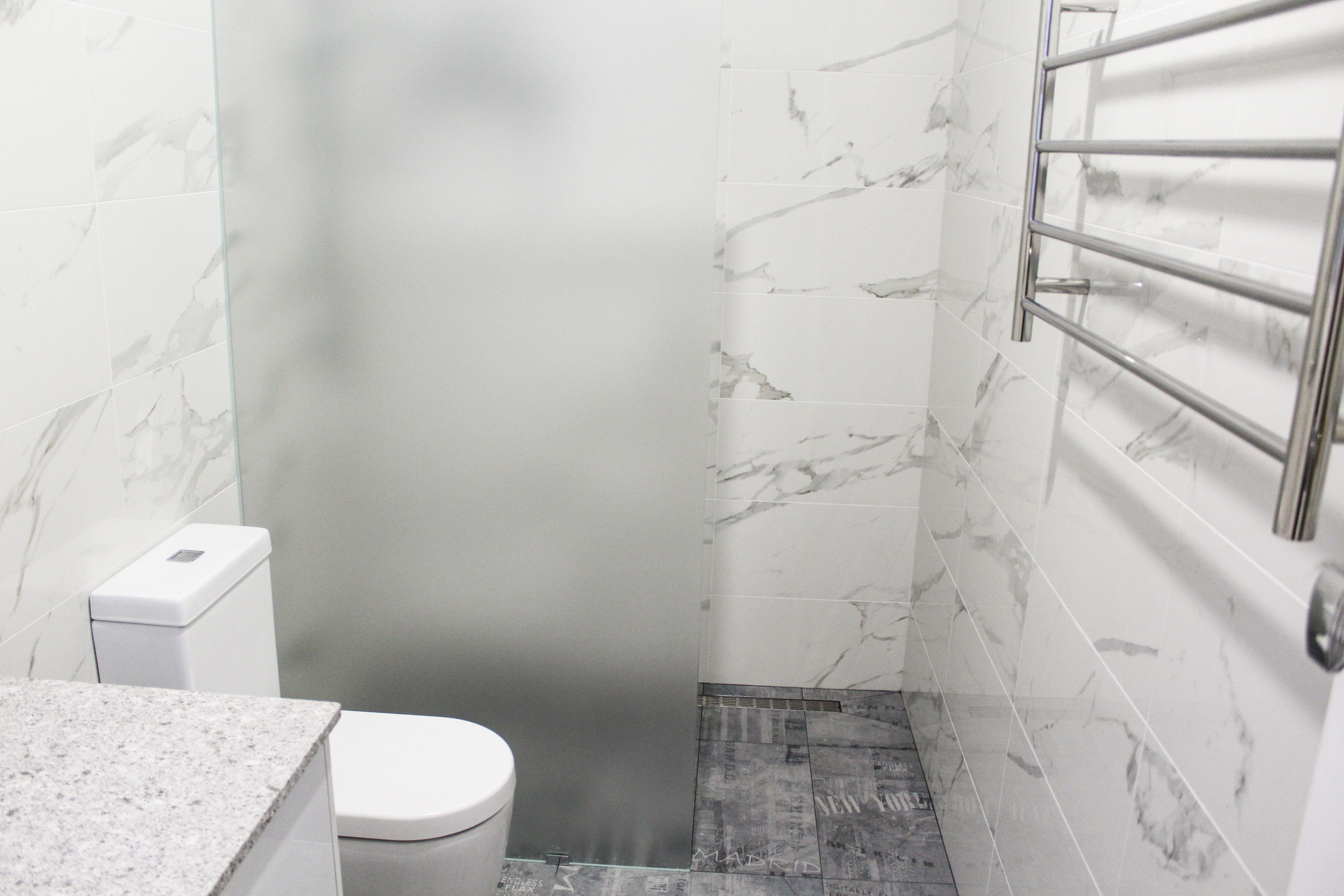 Grey Bathroom - Grey Bathroom Renovations - Light Grey - Wood Look ...