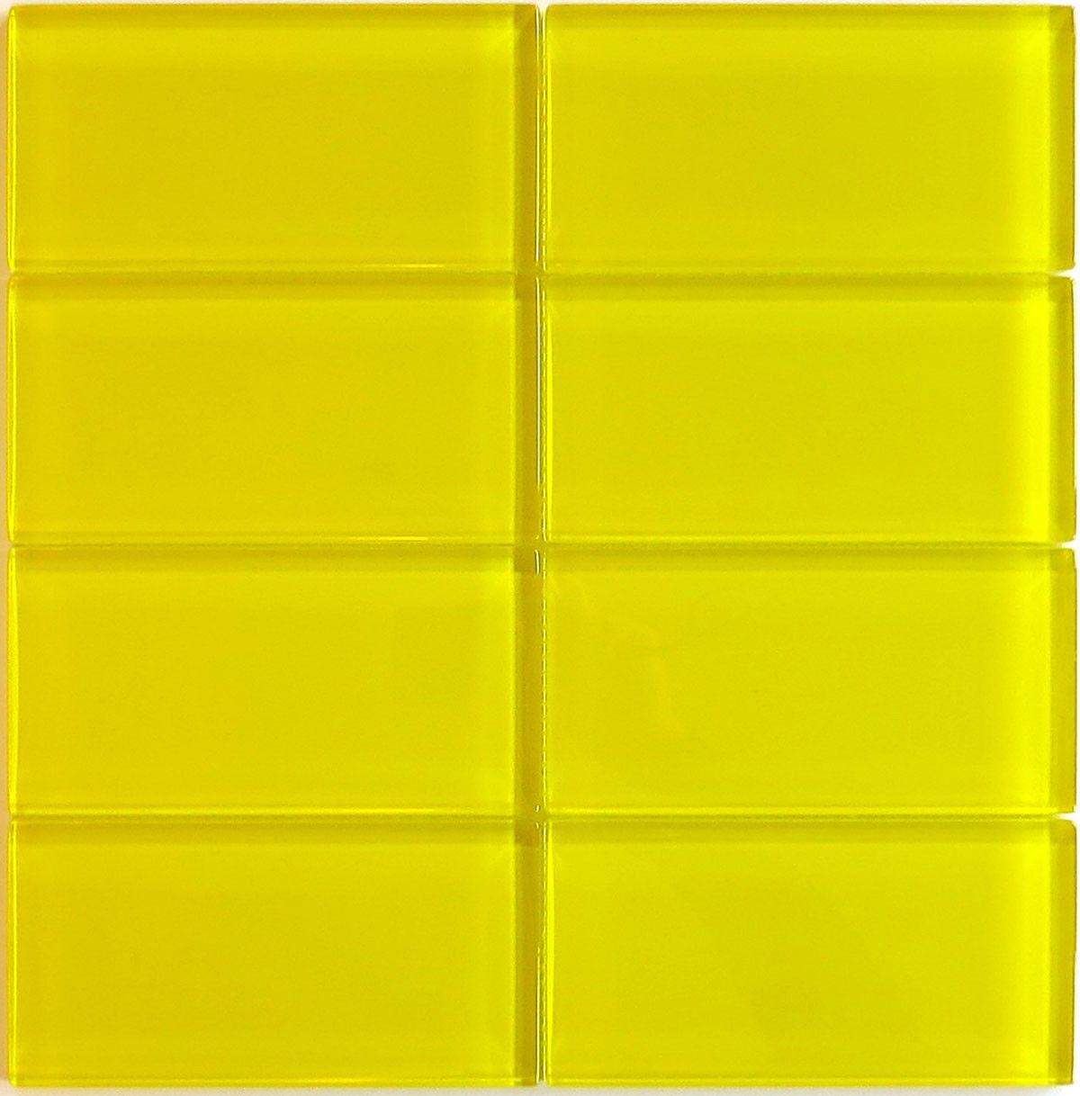 Lush Er Yellow Gl Subway Tile Is A Fresh Bright