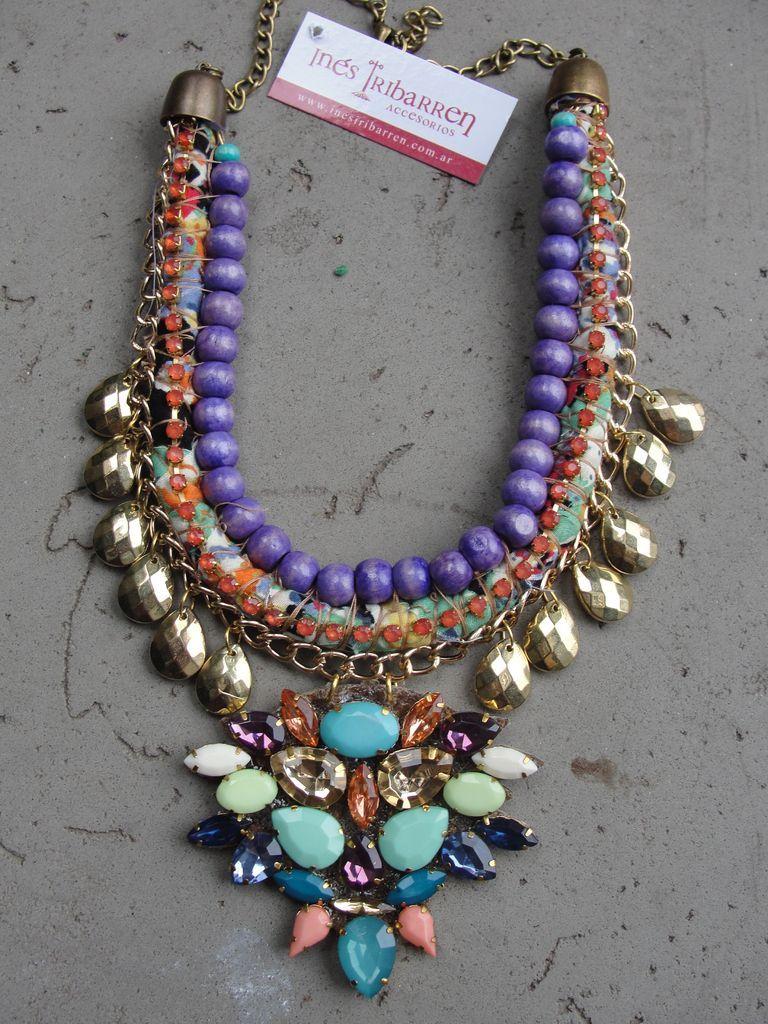 452cd7e307d7 Collar Emporio Violeta - Inés Iribarren Accesorios