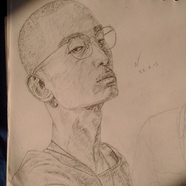 Gonna put this up in my work corner :) #Instaart #drawing #sketchbook #pencil #portrait #realism #YoungBlackArtists