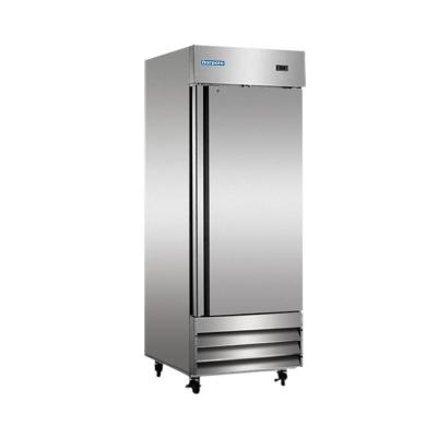 Norpole 23 Cu Ft Commercial Refrigerator In Stainless Steel Silver Solid Doors Steel Doors Single Doors