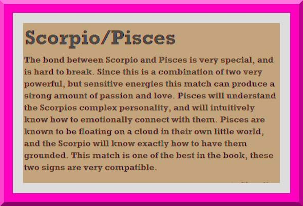 Do pisces and scorpio match