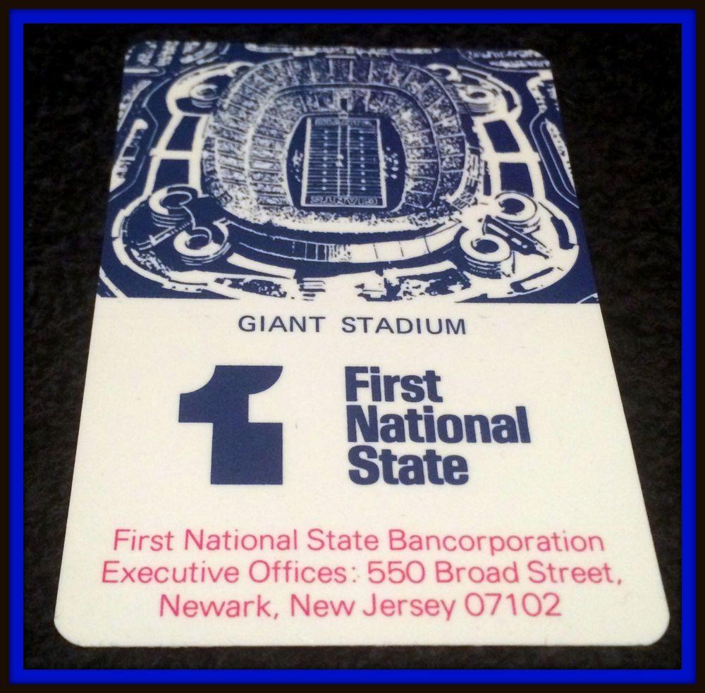 1978 NEW YORK GIANTS FIRST NATIONAL BANK FOOTBALL POCKET