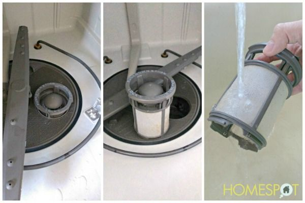 How To Clean The Dishwasher Filter Homespot Hq Blog Dishwasher Filter Diy Cleaning Products Clean Dishwasher
