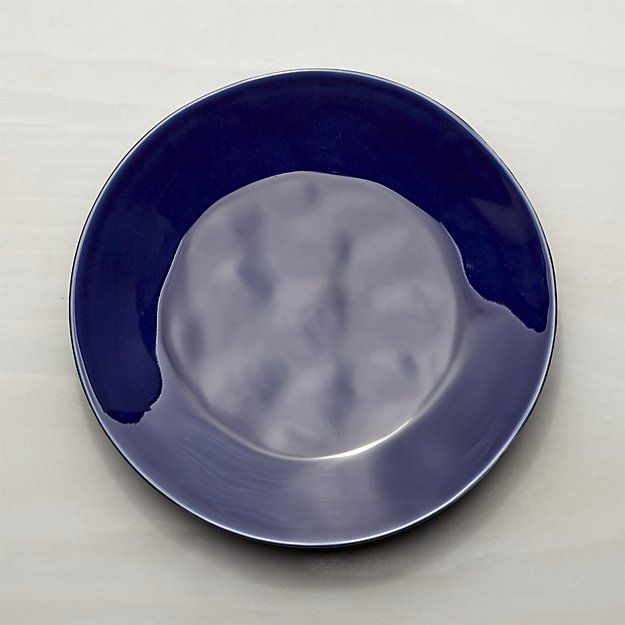 Marin Dark Blue Dinner Plate | Crate and Barrel & Marin Dark Blue Dinner Plate | Blue dinner plates Crates and Barrels