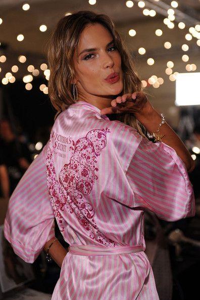346389586d victoria s secret alessandra ambrosio wearing the 2009 victoria s secret  fashion show backstage wrap robe