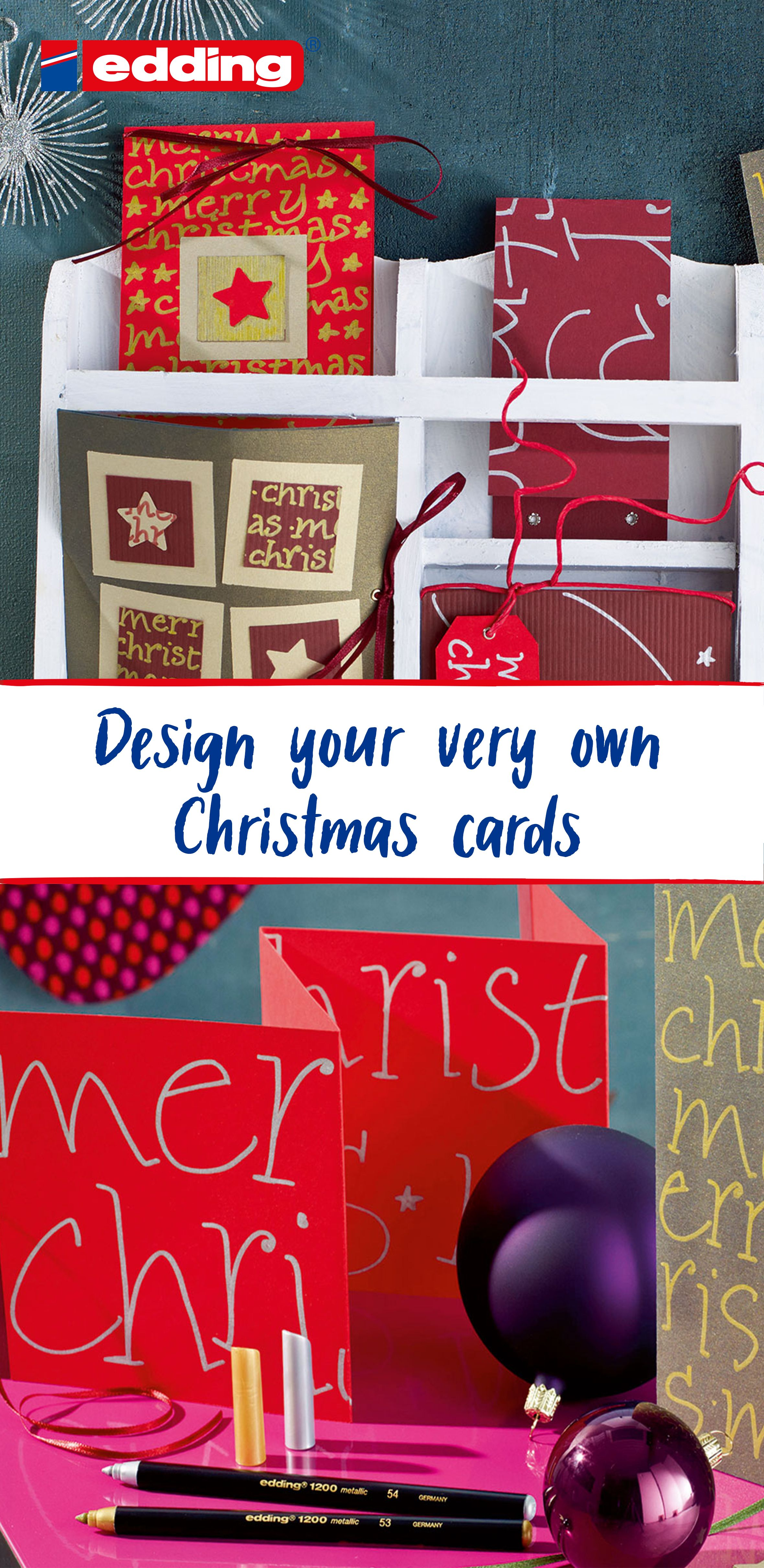 This year you can easily design your own Christmas cards for friends and family. Simply remove ...