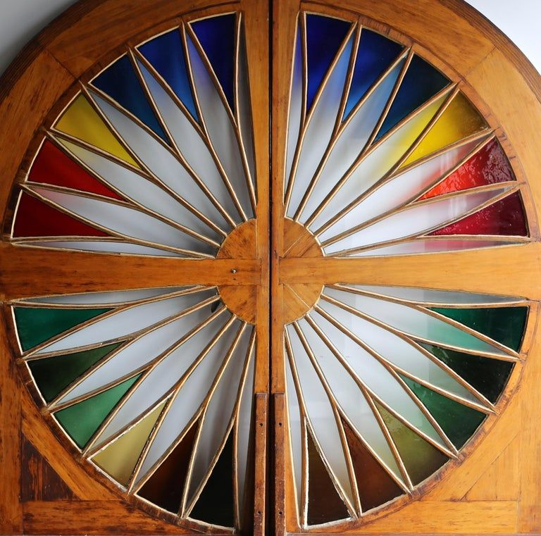 Monumental Stained Glass Sliding Doors Circa 1970 In 2020 Sliding Glass Door Stained Glass Window Stained
