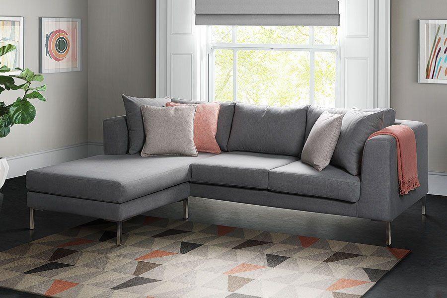 Linear Corner Sofa Grey L Shape Sofa L Shape Sofa Left Hand Sofa Right Hand Sofa Universally Handed Sofa My Furniture Corner Sofa Sofa L Shaped Sofa