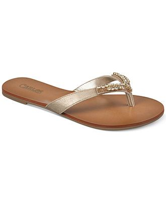 Carlos by Carlos Santana Radiant Jeweled Flat Thong Sandals - Sandals - Shoes - Macy's