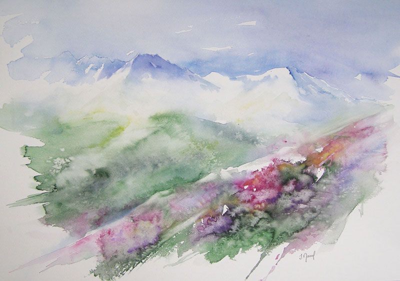 Via Alpina 5 Acheter Tableaux Peinture Aquarelle