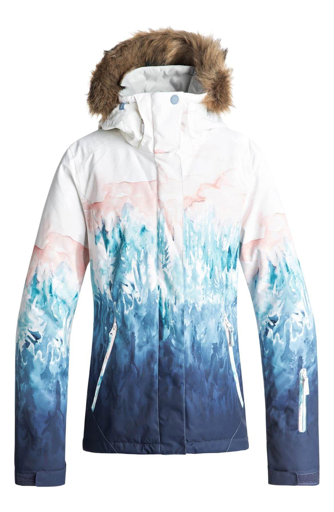 Roxy Bright White-Snowyvale Jet Ski SE Womens Ski Jacket
