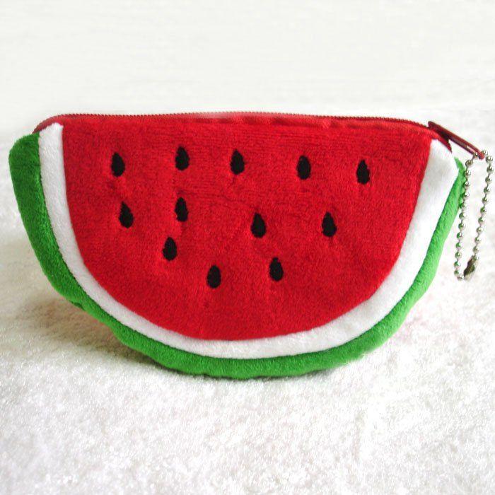 Watermelon Party Bag Watermelon Coin Purse /& Zip Watermelon Coin Purse Mini Watermelon Key Chain